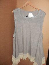 Luxury Women's Fine Knit Tunic with Chiffon Rose, RRP £36