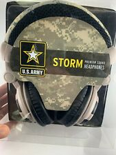 Army, Air Force Headphones, Wired Premium Headset w/50 mm Driver, Mic & Volume