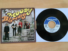 45T THE MOODY BLUES - VOICES IN THE SKY  ( LANGUETTE ) - EXCELLENT ETAT