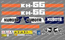 Kubota KH66 Mini Aufkleber Bagger Komplettset mit sicherheit-warnzeichen