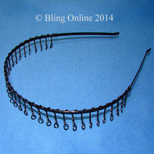 METAL WIRE TOOTHED TOOTH SPORTS HEADBAND HAIRBAND HEAD HAIR BAND FOOTBALL GYM