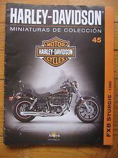FASCICULE 45  MOTO COLECCION HARLEY DAVIDSON  FXTB STURGIS 1980