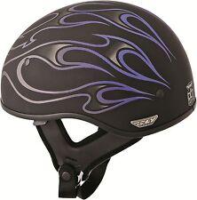New Fly Racing .357 Motorcycle Half Helmet w/Flip Down / Retractable Shield DOT