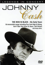 JOHNNY CASH - LEGENDS IN CONCERT DVD (THE MAN IN BLACK - HIS EARLY YEARS)