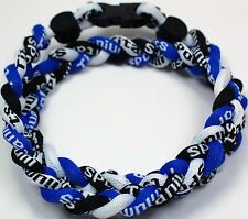 "NEW! BASEBALL Titanium Tornado Sports Necklaces 20"" Royal Black White BLUE ROPE"