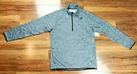 Reebok Mens 1/4 Zip Gray Fleece Lined Long Sleeve Pullover Shirt Size Large