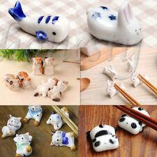 6 Typles Cute Animals Japanese Ceramic Ware Chopstick Rack Spoon Fork Holder
