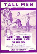 """THE TALL MEN Sheet Music """"Tall Men"""" Clark Gable Jane Russell Robert Ryan"""