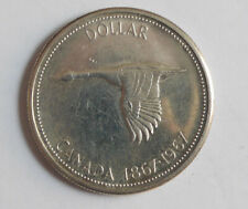 1967 Canadian Silver dollar AU-50 condition