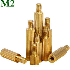 M2 Male-Female Brass Knurled Threaded Column Standoff Support Spacer for Camera