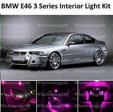 PINK PURPLE PREMIUM BMW E46 3 SERIES SALOON COUPE LED INTERIOR UPGRADE KIT SET