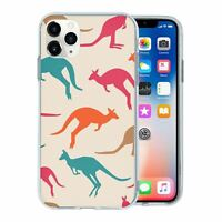 For Apple iPhone 11 PRO MAX Silicone Case Australia Kangaroo Pattern - S5966