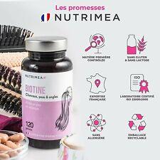 BIOTINE Cheveux Ongles Peau Nutrimea 4 Mois Vegan Français Accélérateur Pousse