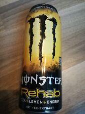 1 Volle Energy drink Dose Monster Rehab Iced Tea Lemon Tee Can FULL 1015c