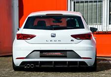 Cup Diffusor Ansatz für Seat Leon 5F FR FL Heck Stoßstange Rear Splitter ABS INE