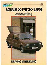 AUSTIN MORRIS Metro Van applicazioni dell Van PICK UP mid-late 1983 UK vendite sul mercato opuscolo