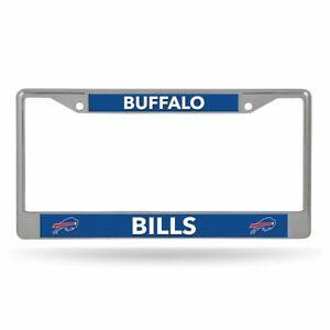 Buffalo Bills Lightweight Chrome Metal License Plate Frame