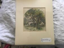 VA Old McLean House @ Appomattox Court House VIRGINIA Handcolored Wood Engraving