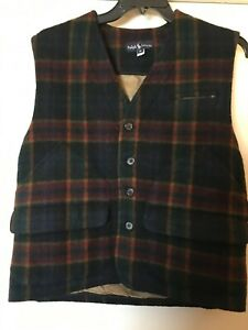 Vintage Ralph Lauren Wool Vest (Medium) Womens