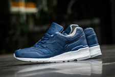 New Balance 997 Made in USA Bison Leather Blue White Grey Sz 12 M997BIS