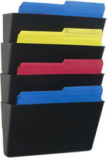 New listing Storex Recycled Wall Files, Letter, Set of 4, Black. Unopened