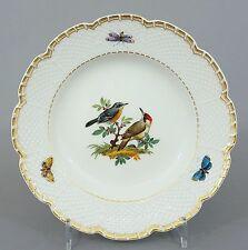 Meissen Teller mit Vogel Motiv, Osier Relief, 1. Wahl, Durchmesser 15,5 cm #4