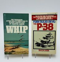 Lot of 2 Martin Caidin Vintage Pulp PB Whip & Fork Tailed Devil The P-38 VG A50