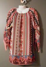 WOMENS NEW DIRECTIONS Handkerchief sleeve dress SIZE S Lined Knee Length Boho