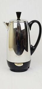 Vintage Farberware Superfast Electric Coffee Percolator 12 Cup 142 Chrome USA