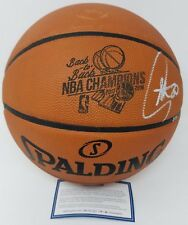 """STEPHEN CURRY Autographed """"B2B Champs"""" Engraved Basketball STEINER LE 3/30"""