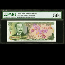 Costa Rica 5 Colones 1972 signed by 1987 Nobel Peace Prize PMG 50 P-236b