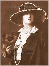 Photo: Lucy Duff Gordon Titanic Survivor With Pekingese In 1919, Sepia View