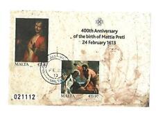 Malta( Ann. Mattia Preti ) Cancelled souvenir Sheet Mint Never Hinged
