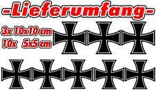 13x Eisernes Kreuz hooligan Hardcore Dynamo Wehrmacht iron cross Oldschool