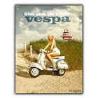 Vespa Piaggio vintage retro Anuncio Letrero Metálico De Pared Placa Póster