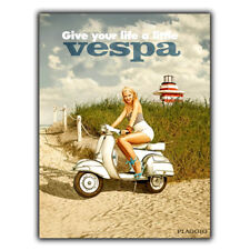 VESPA PIAGGIO Vintage Retro Vintage Advert METAL WALL SIGN PLAQUE poster print