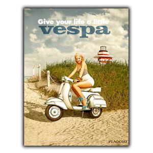 VESPA PIAGGIO Vintage Retro Vintage Advert METAL WALL SIGN PLAQUE poster print