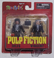 MINIMATES PULP FICTION. JULES & VINCENT 2 PACK. FIGURES NEW ON CARD.