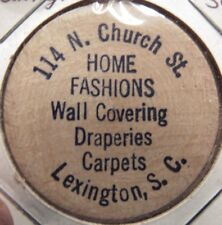 Vintage Home Fashions Lexington, SC Wooden Nickel - Token South Carolina