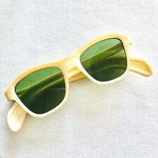 1950s Cool Ray Polaroid Vintage White Frame Green Lenses Sunglasses Early