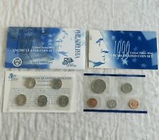More details for usa 1999 philadelphia 9 coin uncirculated mint year set - 2 sealed pack