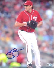 John Lannan Nationals Autographed 8x10 Photo with MLB Authentication