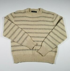 Vintage Jantzen Wool Sweater Men's Medium ( M ) Knit Long Sleeve Made In USA