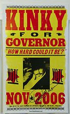 "Kinky Friedman For Governor ""How Hard Can It Be"" Campaign Poster 2006 - Signed"