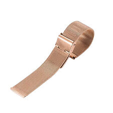 12mm-24mm Stainless Steel Mesh Bracelet Watch Band Replacement Strap Womens Mens
