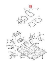 Genuine VW Jetta syncro 1 Set Foot Mats Satin Black/Sterling 5C7863011JJWF