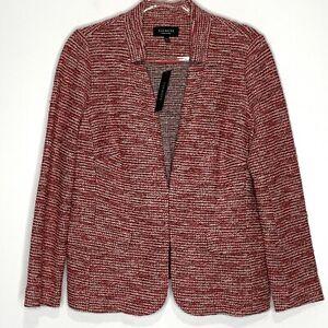 Talbots Women's Red & White Tweed Blazer NWT Size 14W Petite Business