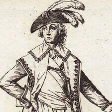 Gravure XVIIIe Costume Directoire Ministre Révolution Française 1796