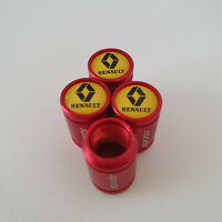 RENAULT Red METAL SPORTS Valve Dust caps all Cars 7 COLORS UK DISPATCH Trafic GT