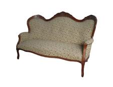 Divano stile Luigi Filippo in faggio tinto noce - divanetto - sofà - metà 900